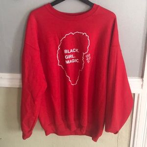 Black girl magic crew neck sweater